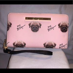 Betsey Johnson Zip Around Wristlet Wallet Clutch